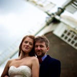 Bride and groom windmill