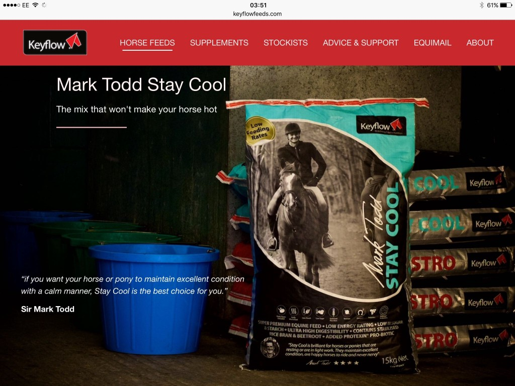 Product Photography - Mark Todd Stay Cool Feed